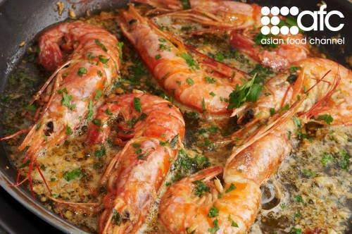 Chef Sean Connolly's Grilled Garlic Prawns