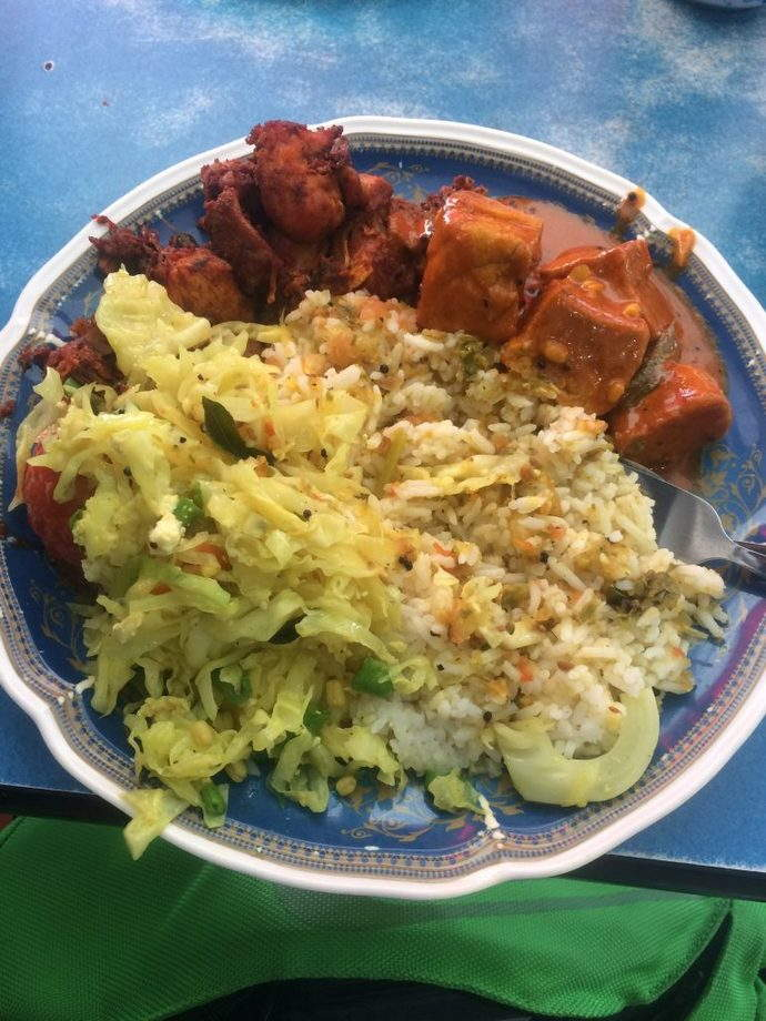 A very messy but delicious Nasi Kandar