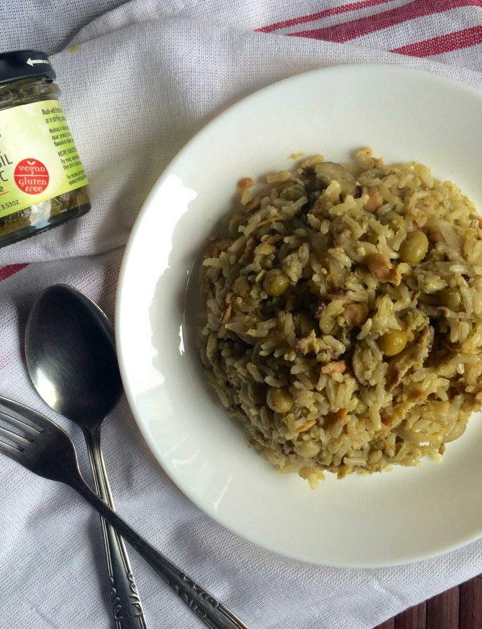 Thai Basil Garlic Fried Rice with Mekhala