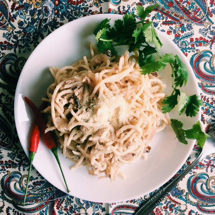 Tuna Cream Pasta Cravings Recipe