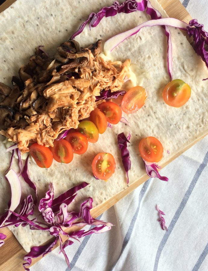 Easy Pulled Chicken Wraps