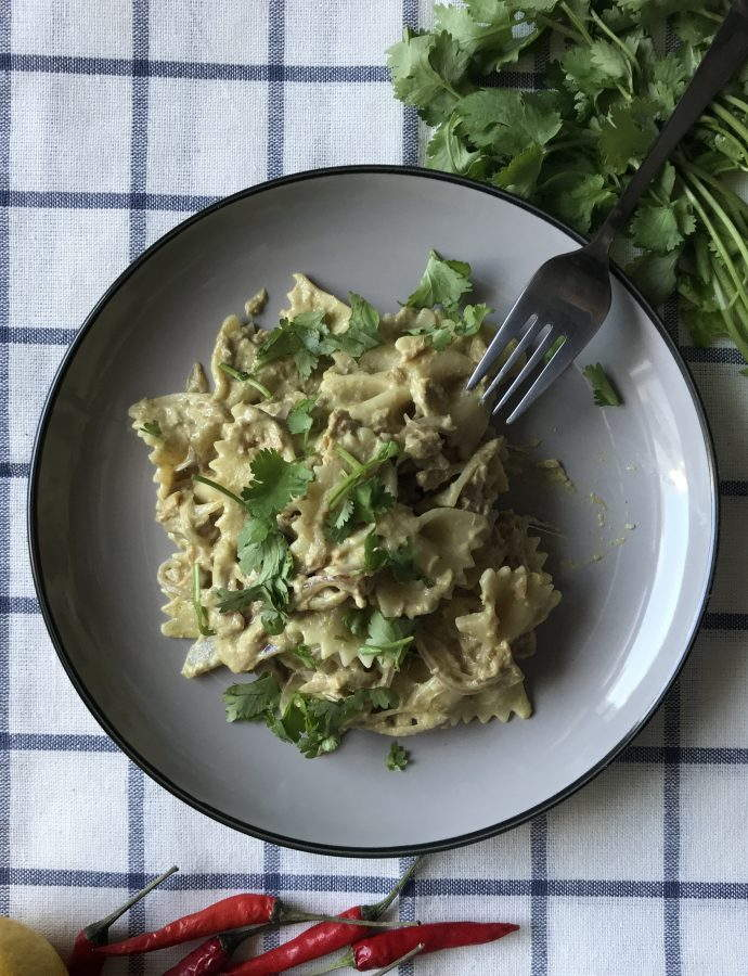 Tuna Green Curry Pasta