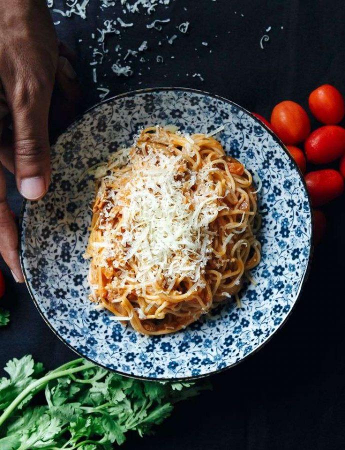 Tomato and Coconut Cream Pasta Recipe