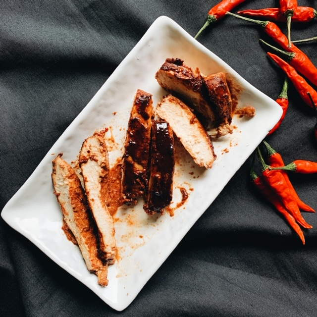 Spicy Roasted Soy Chicken