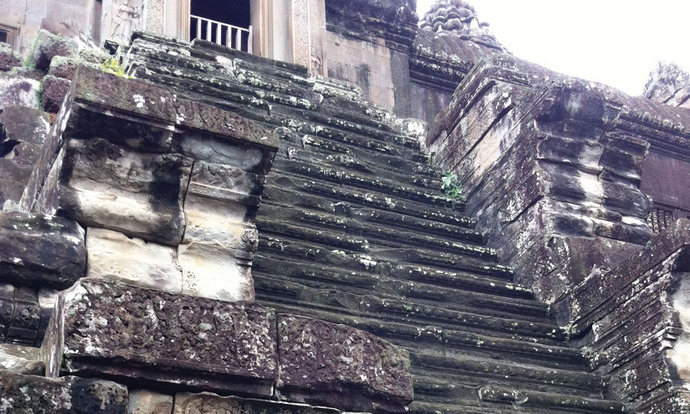 The Steep Steps that lead to the inner sanctum if the temples.