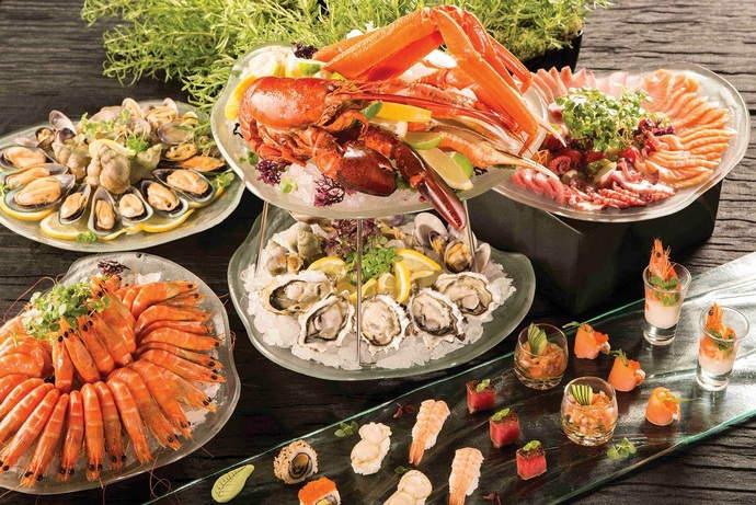 Buffet at RISE restaurant