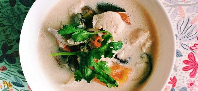 Tom Kha Gai (Spicy Thai coconut Chicken Soup)