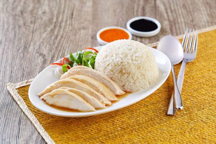 Hainanese Chicken Rice at $3.50