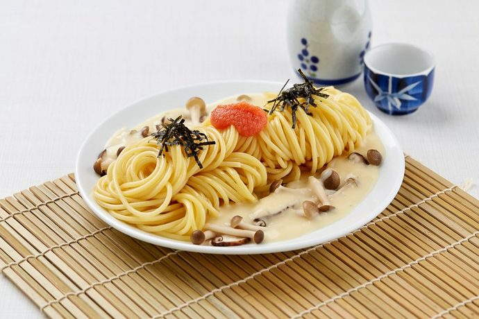 Spaghetti Al Fungi with Mentaiko at $5.80