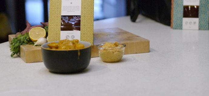 Rendang Hummus, in collaboration with Batu Lesung Spice Co.