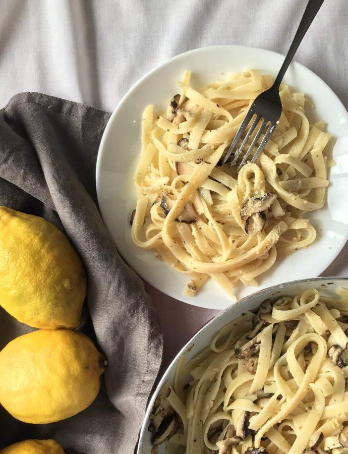 Lemon Mushroom Pasta