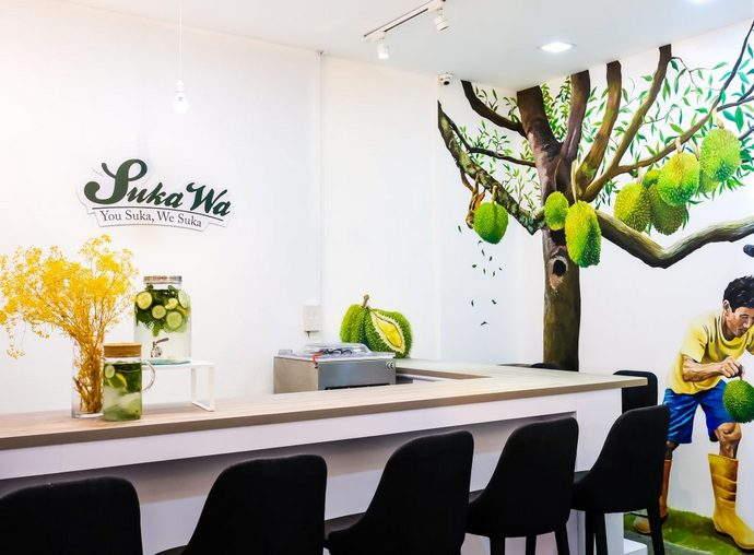 custom durian bar at 99 old trees