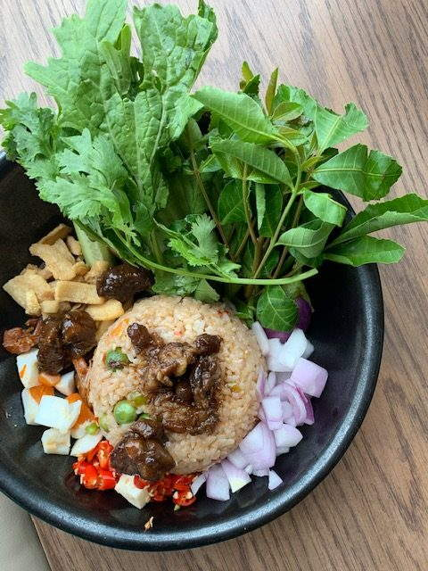Shrimp paste fried rice bangkok eating